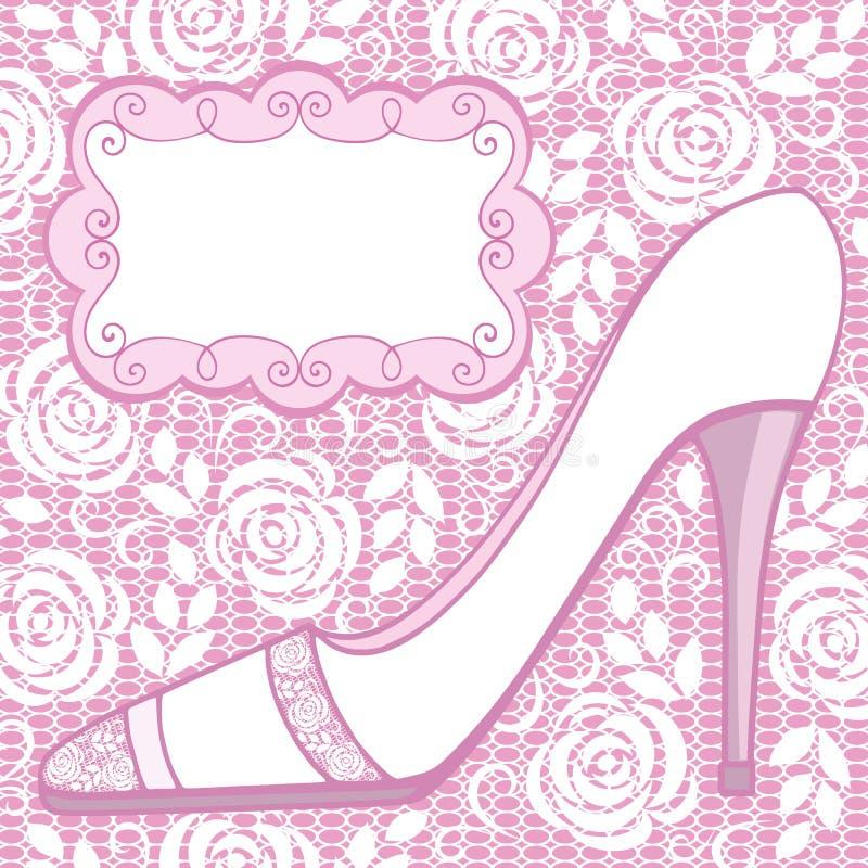 Zapato De La Boda Tarjeta De Felicitación Ilustración del Vector ...