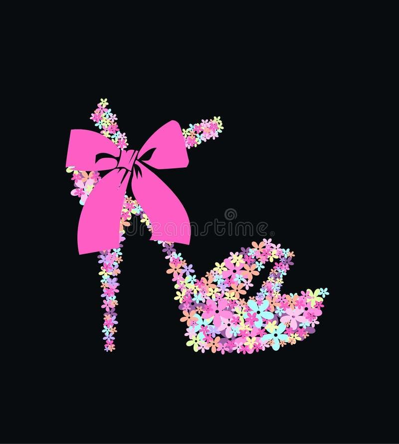 Zapato de la flor ilustración del vector