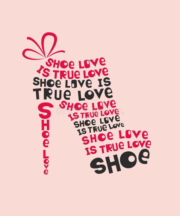 Zapato de la mujer de la moda ilustración del vector