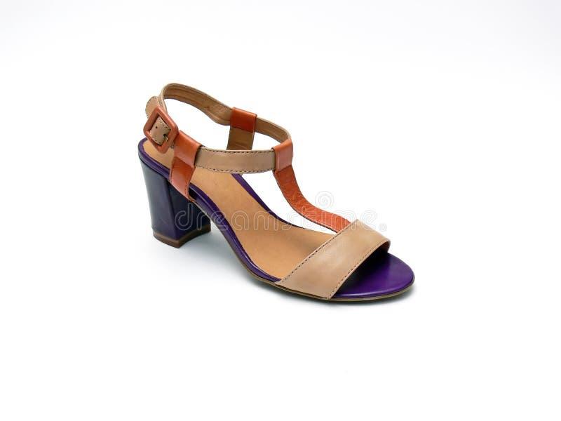 Zapato de la mujer - sandalia foto de archivo libre de regalías