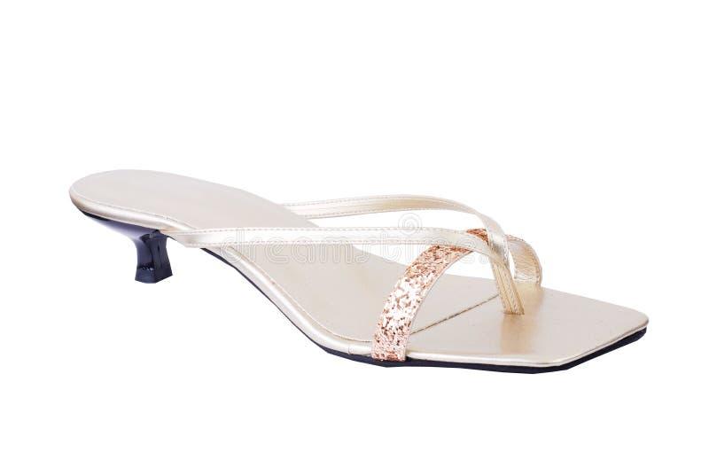 Zapato de la sandalia aislado en un blanco foto de archivo libre de regalías