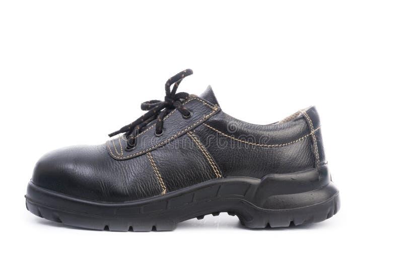 Zapato de seguridad negro aislado fotografía de archivo libre de regalías