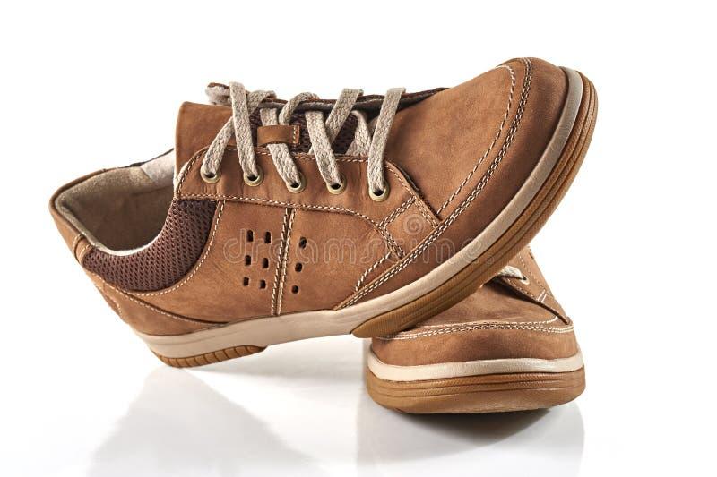 Zapato del ` s de los hombres de Brown fotos de archivo