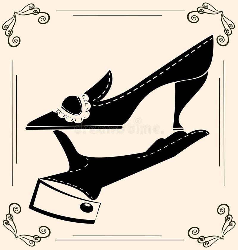zapato del vintage ilustración del vector