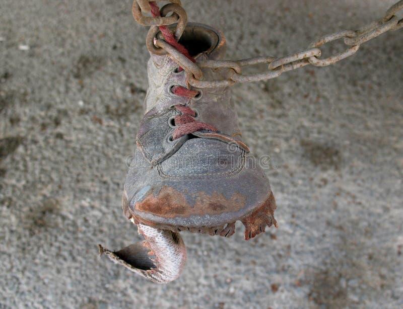 Zapato En Encadenamiento Foto de archivo libre de regalías