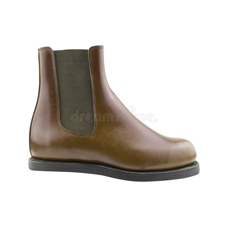Zapato marrón de los hombres imágenes de archivo libres de regalías
