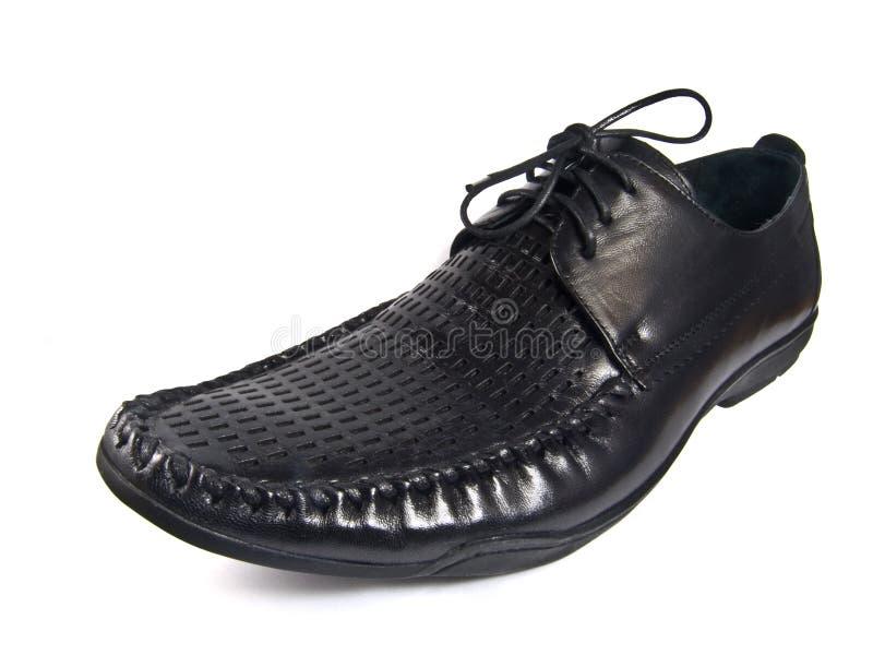 Zapato masculino negro imagen de archivo libre de regalías