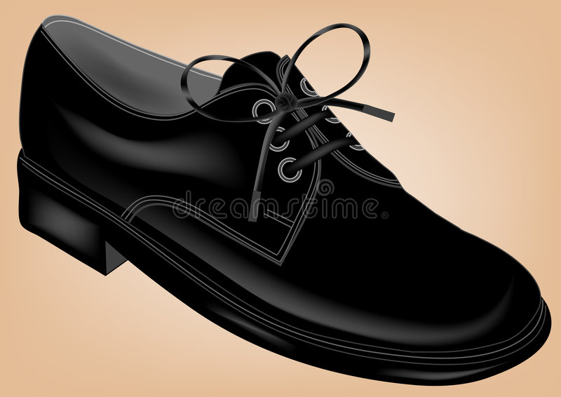Zapato negro ilustración del vector