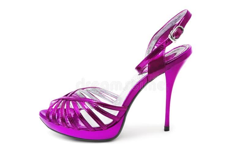 Zapato púrpura imagenes de archivo