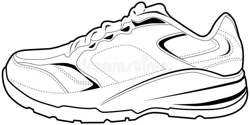 Zapato tenis stock de ilustración