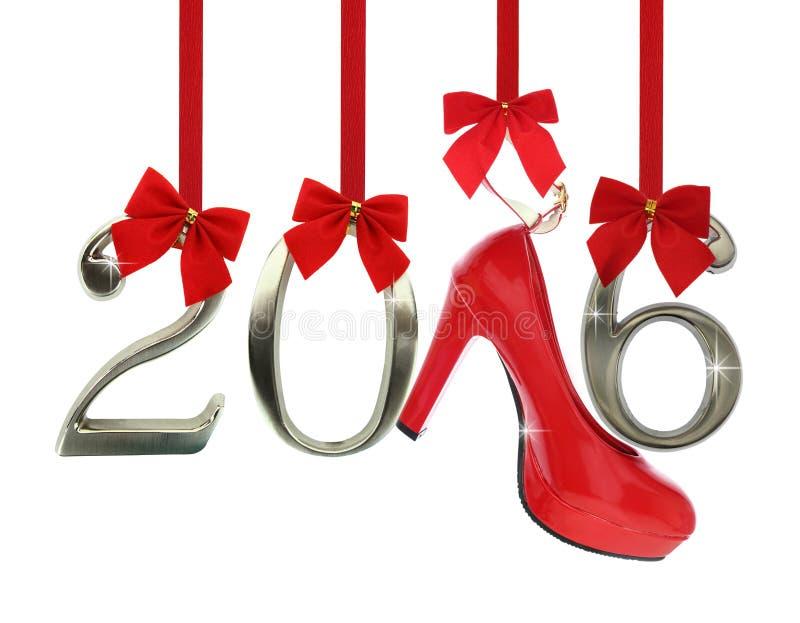 Zapato y 2016 del tacón alto fotografía de archivo