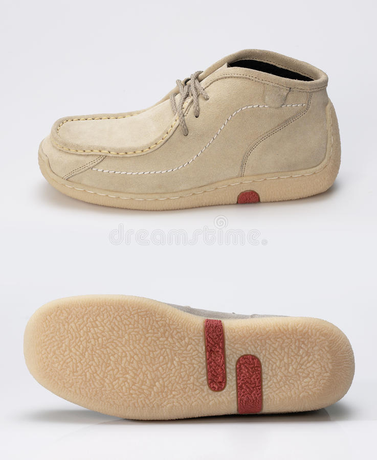 Zapato y planta del pie imagen de archivo libre de regalías