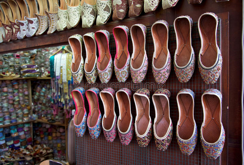 Zapatos árabes imagen de archivo