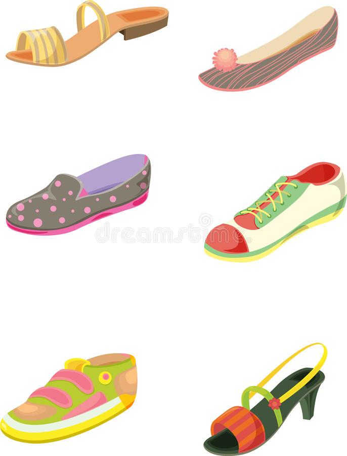 Zapatos stock de ilustración