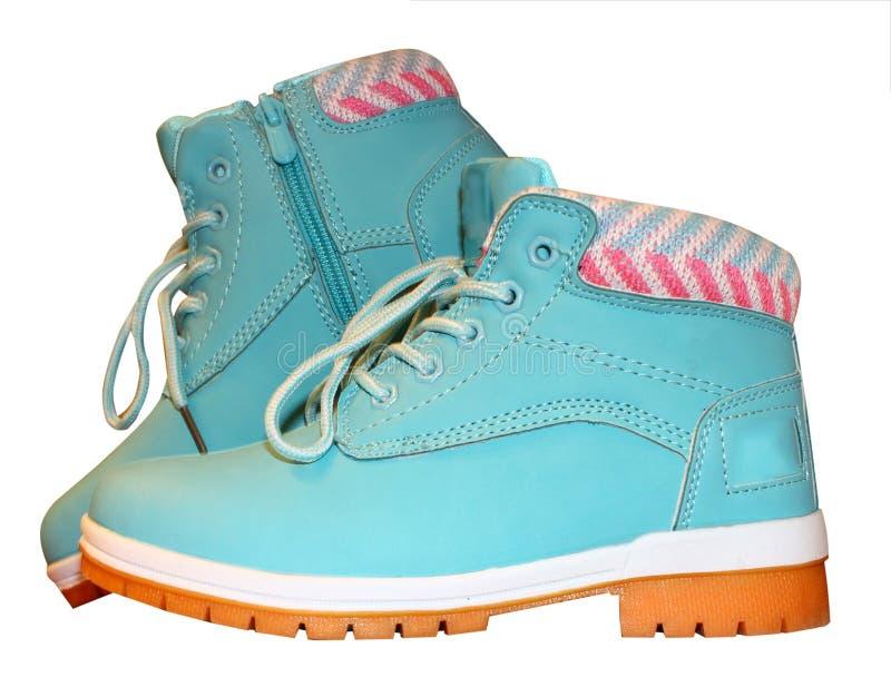 Zapatos aislados en la venta blanca del fondo de zapatos Etiqueta estacional de sale fotografía de archivo