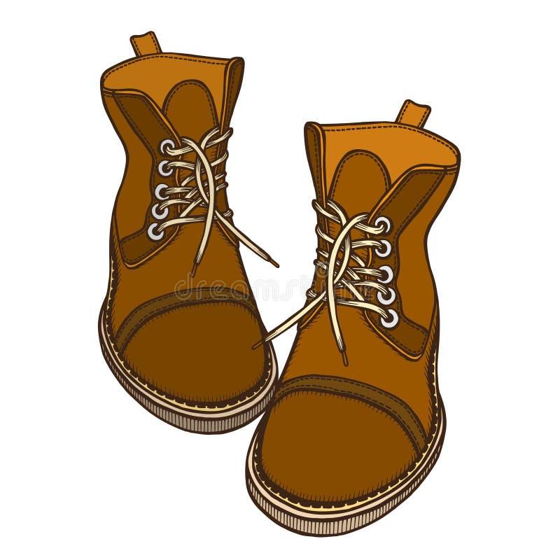 Zapatos, botas, ejemplo del vector stock de ilustración