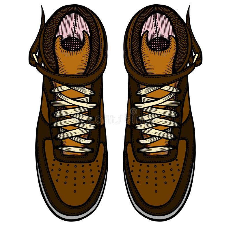Zapatos, botas, ejemplo del vector libre illustration