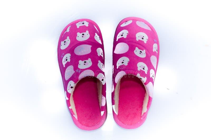 Zapatos caseros cómodos imagen de archivo libre de regalías