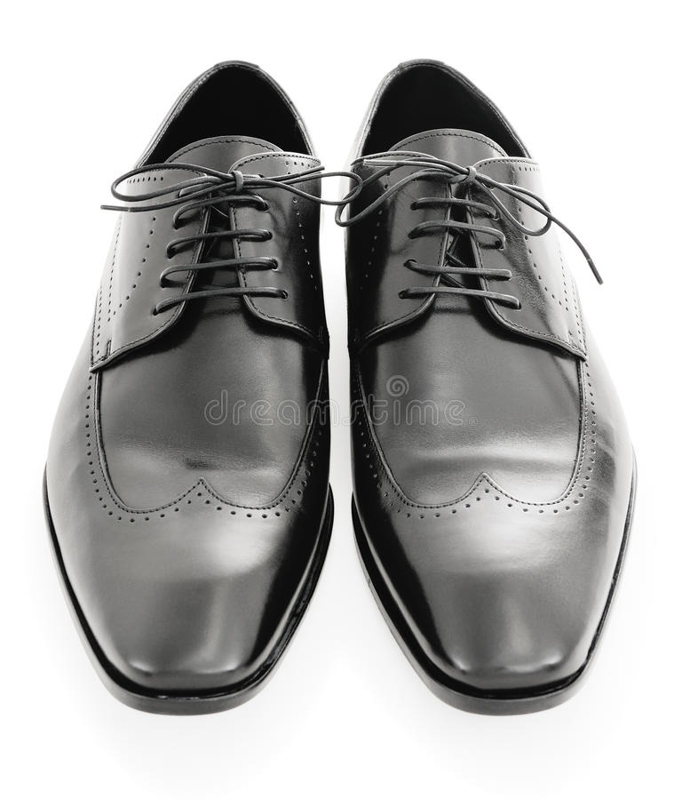 Zapatos de alineada fotografía de archivo libre de regalías