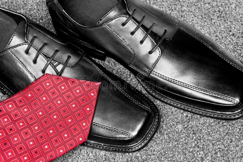 Zapatos de alineada de cuero negros foto de archivo
