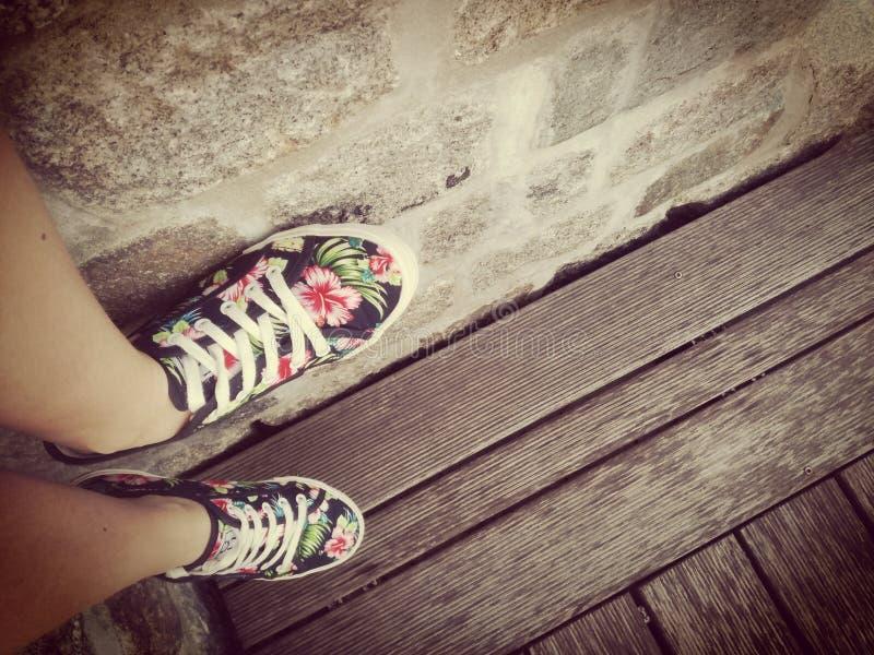 Zapatos de antaño imagenes de archivo