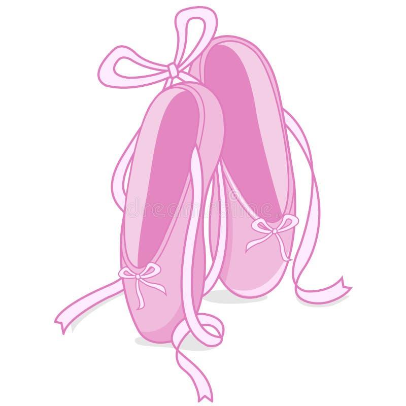 Zapatos de ballet ilustración del vector
