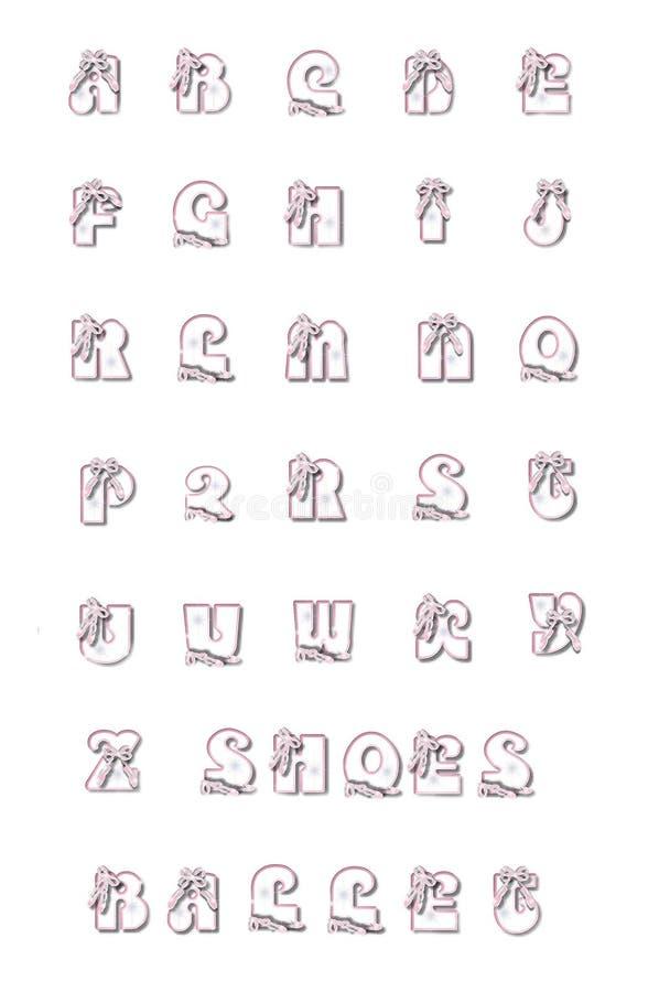 Zapatos de ballet alfa libre illustration