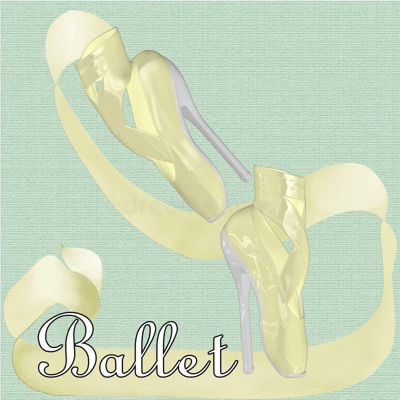 Zapatos de ballet con los tacones altos fotografía de archivo libre de regalías