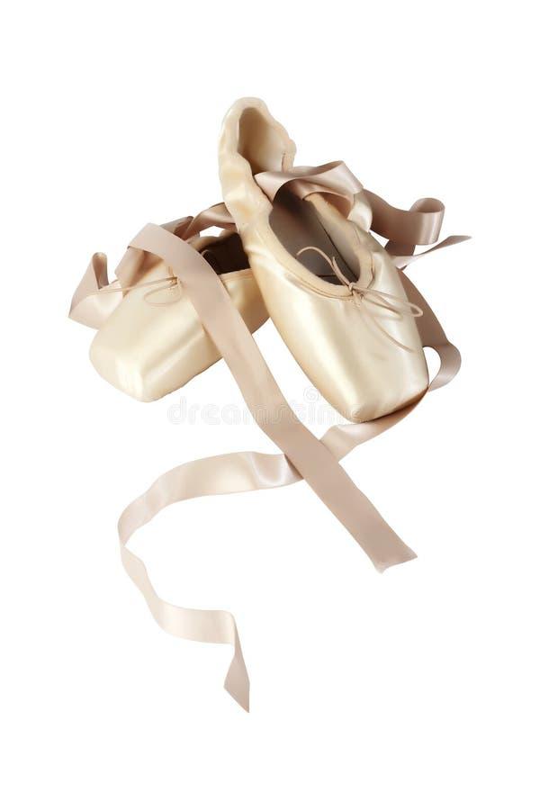 Zapatos de ballet de Pointe fotos de archivo