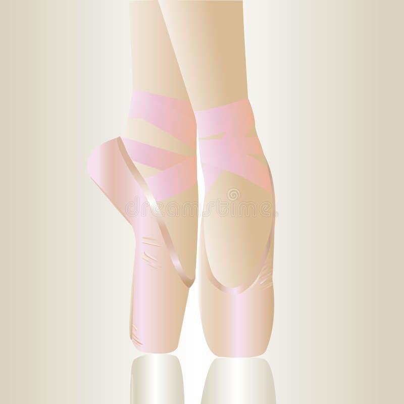 Zapatos de ballet rosados fotos de archivo libres de regalías