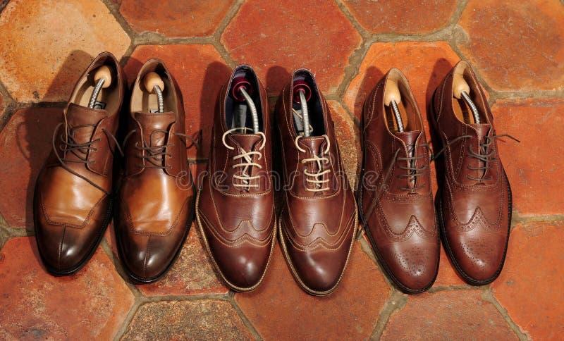 Zapatos de Brown imágenes de archivo libres de regalías