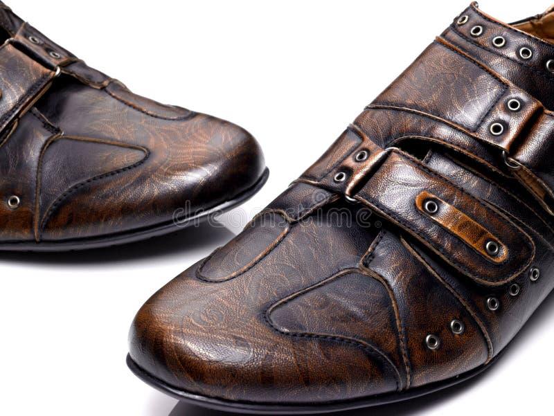 Zapatos de Brown fotografía de archivo