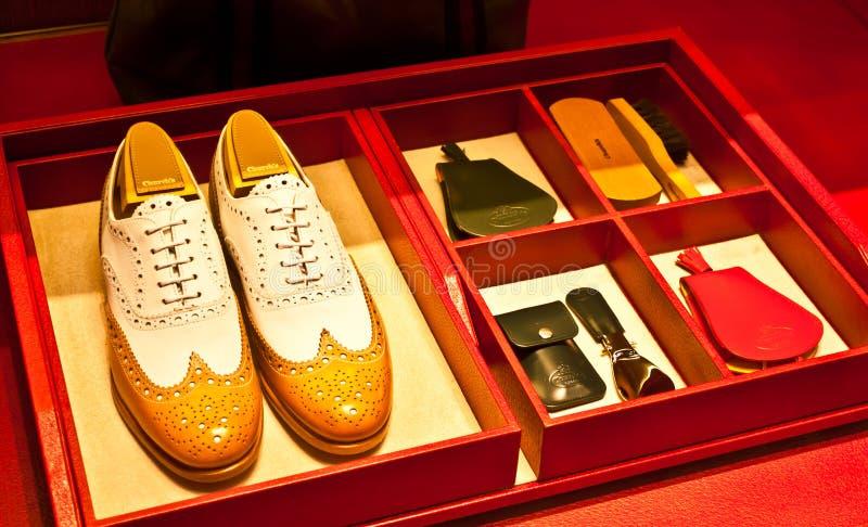 Zapatos de Churchâs foto de archivo libre de regalías