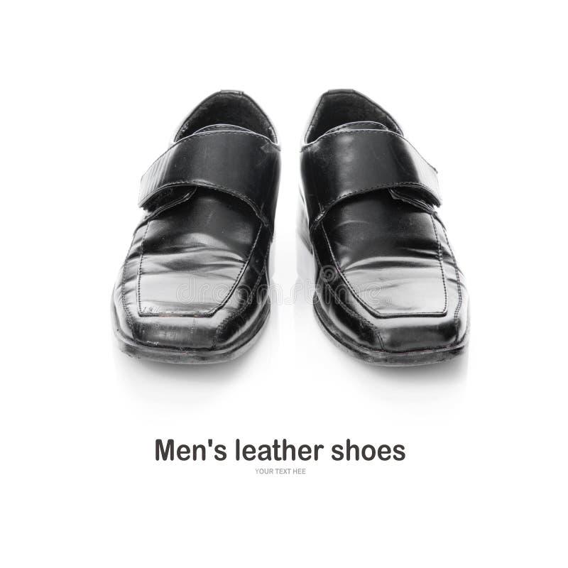 Zapatos de cuero del ` s de los hombres aislados en un fondo blanco fotos de archivo