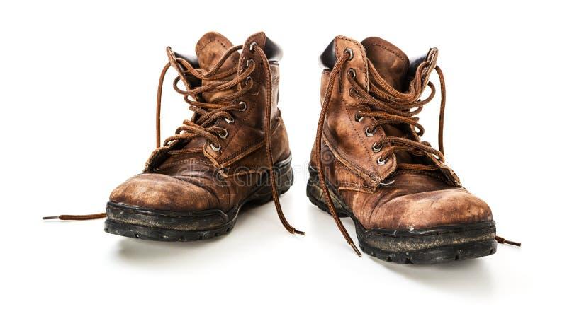 Zapatos de cuero viejos imagen de archivo libre de regalías