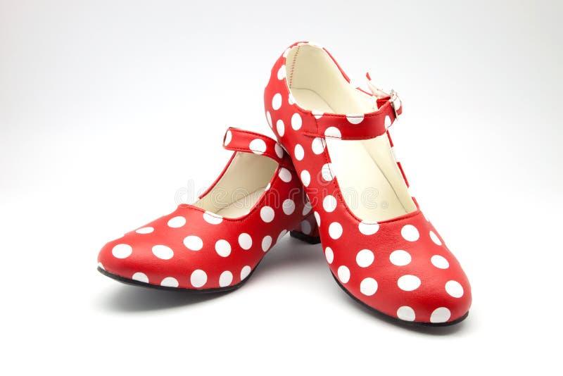 Zapatos de la danza del flamenco fotografía de archivo