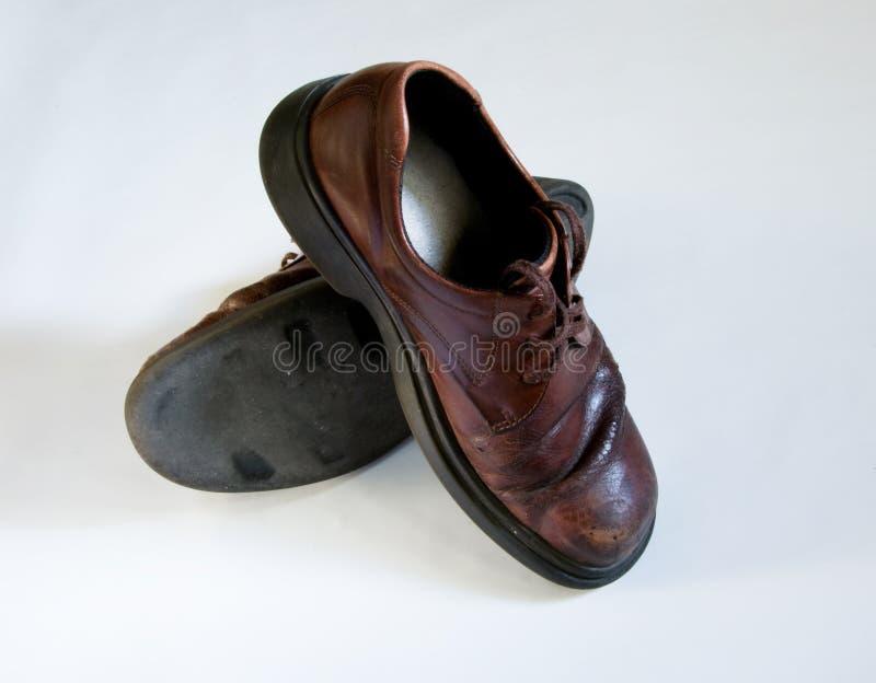 Zapatos de la escuela vieja foto de archivo libre de regalías