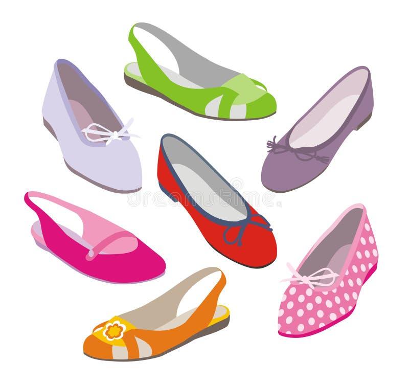 Zapatos de la manera libre illustration