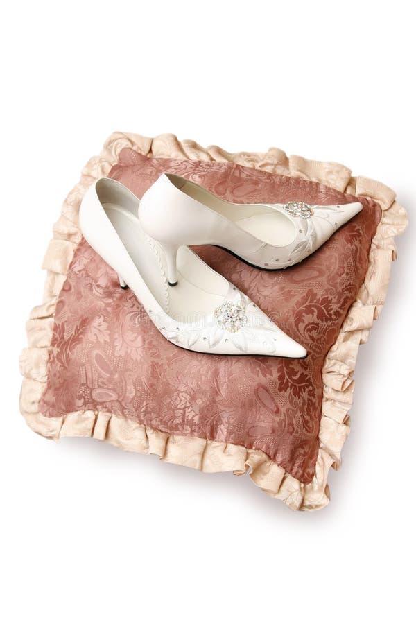Zapatos de la novia fotos de archivo