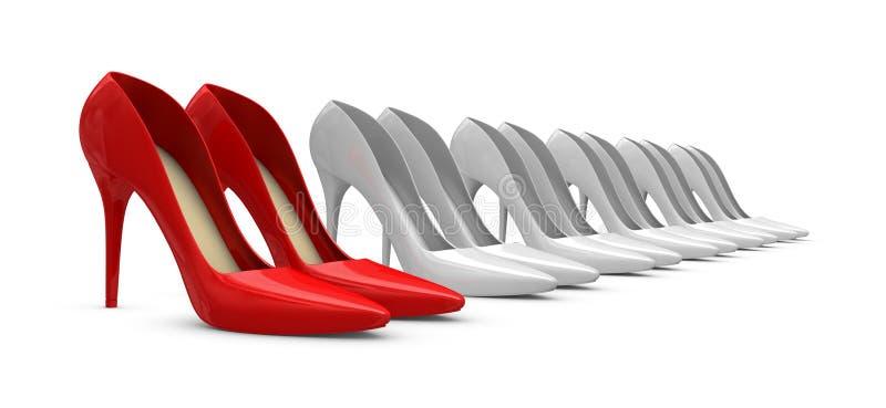 Zapatos de las mujeres ilustración del vector