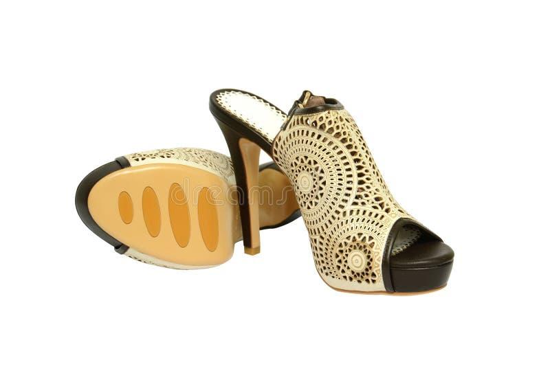 Zapatos de las mujeres imagenes de archivo