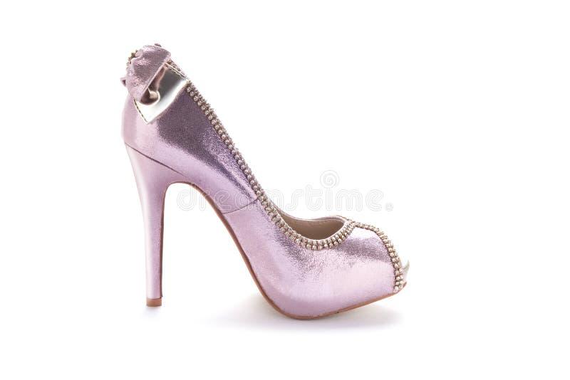 Zapatos de las señoras rosadas imagen de archivo libre de regalías