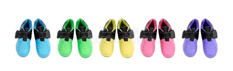 Zapatos de los deportes de los niños fotografía de archivo libre de regalías