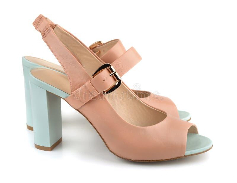 Zapatos de los tacones altos fotografía de archivo libre de regalías