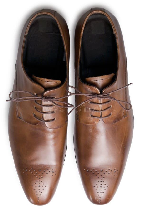 Zapatos de Tan de arriba imagen de archivo libre de regalías