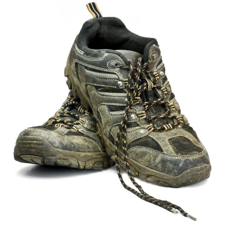 Zapatos de trabajo sucio imagen de archivo libre de regalías