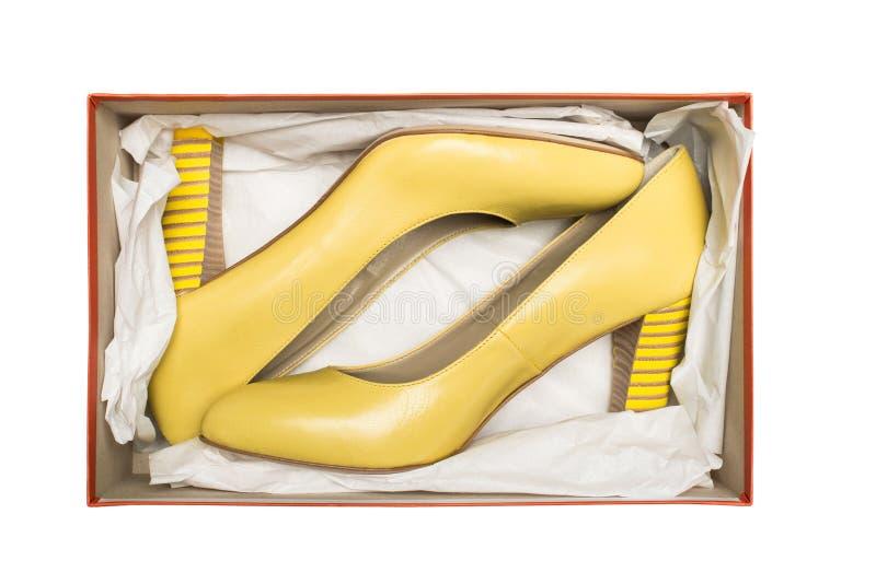 Zapatos del alto talón en rectángulo imágenes de archivo libres de regalías