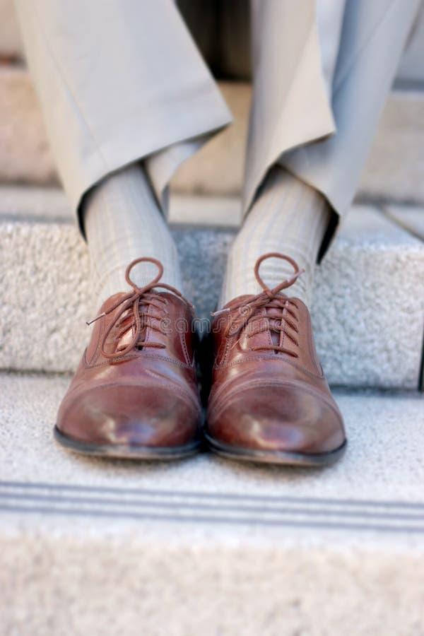 Zapatos del asunto imagen de archivo