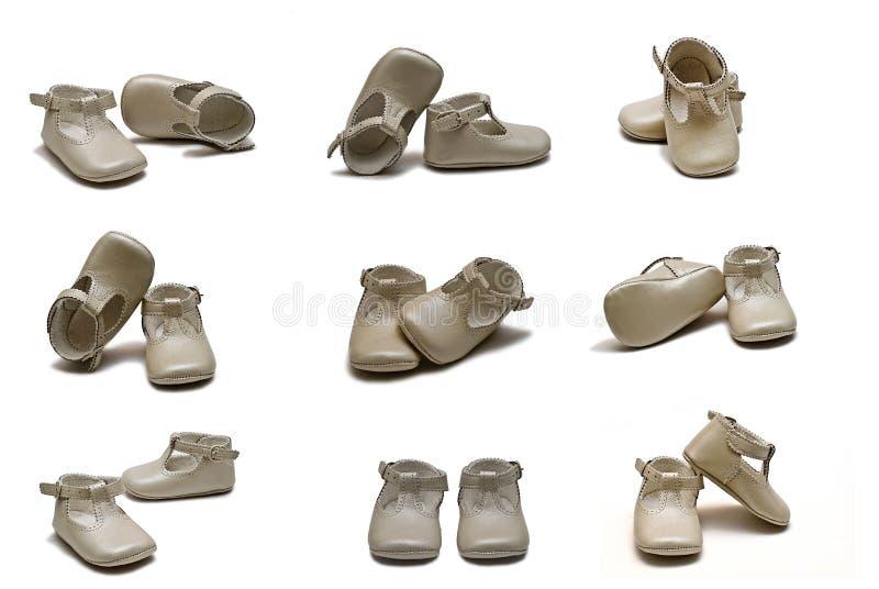 Zapatos del bautizo. foto de archivo libre de regalías