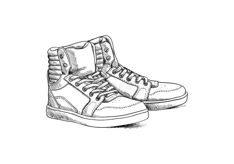Zapatos del bosquejo ilustración del vector
